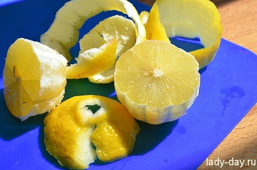 чистим лимон