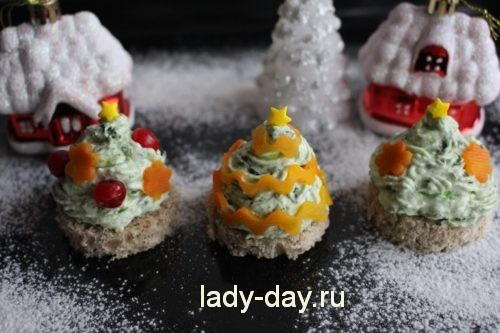 Новогодние закуски елочка