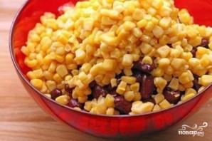 Диетический салат с фасолью - фото шаг 3