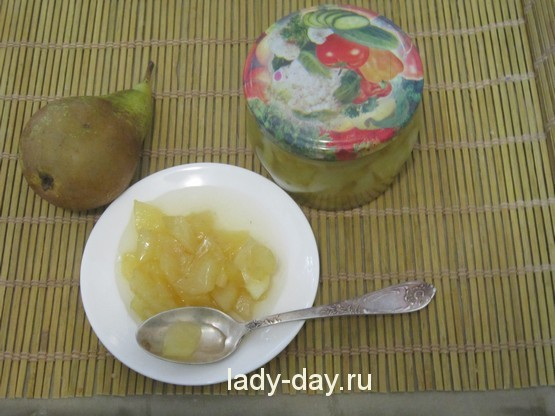 Варенье из груш пятиминутка