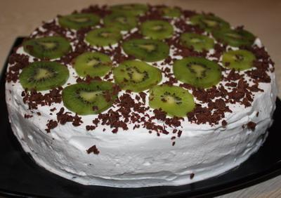 Маковый торт с киви