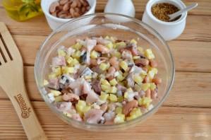 Салат из соленой скумбрии - фото шаг 5