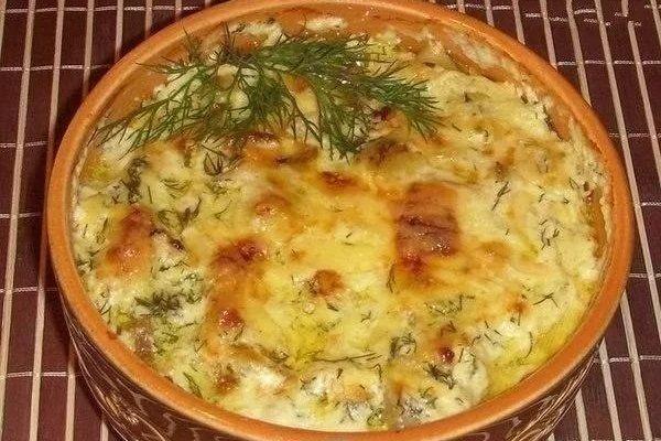 Картошка в сметане с курицей в духовке рецепт