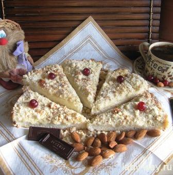 Пирог посыпушка с вареньем пошаговый рецепт