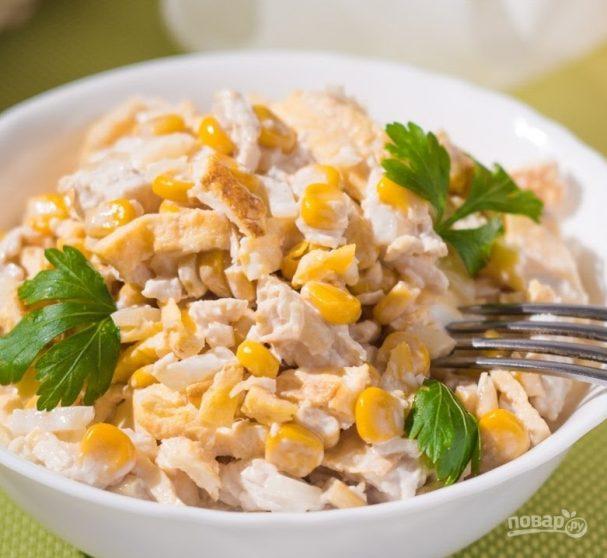 Салат нежность из курицы рецепт с