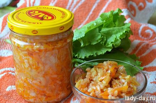салат с рисом.заготовки на зиму