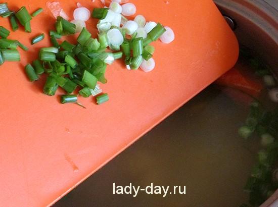 Суп с зеленым луком