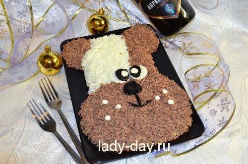 салат собака на новый год рецепт