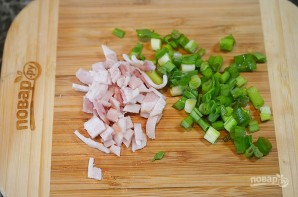 Картофельные палочки с сыром и беконом - фото шаг 3