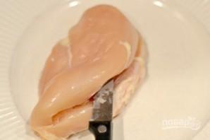 Куриные грудки с сыром и беконом - фото шаг 1