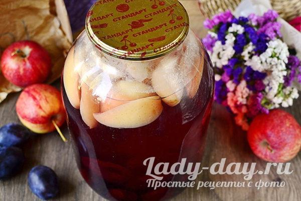 сливово-яблочный компот