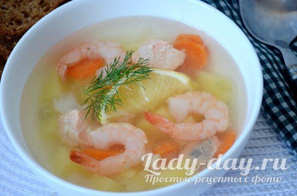 Суп с креветками рецепт с фото