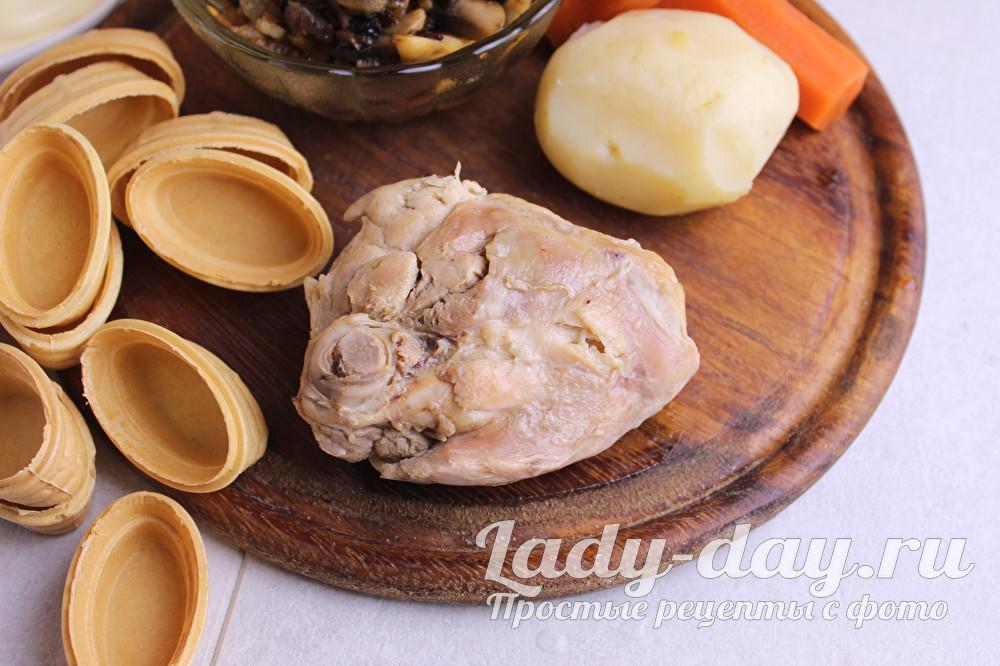 курица и картошка