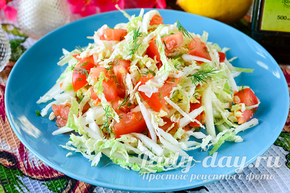 Салат с пекинской капустой простой и вкусный