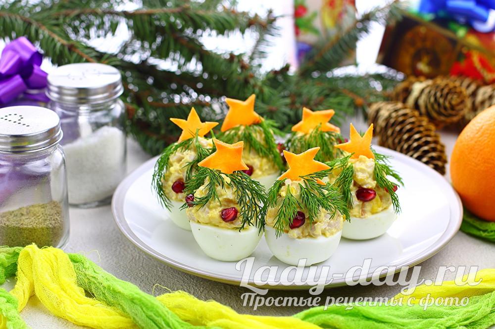 Закуска елочки на Новый год