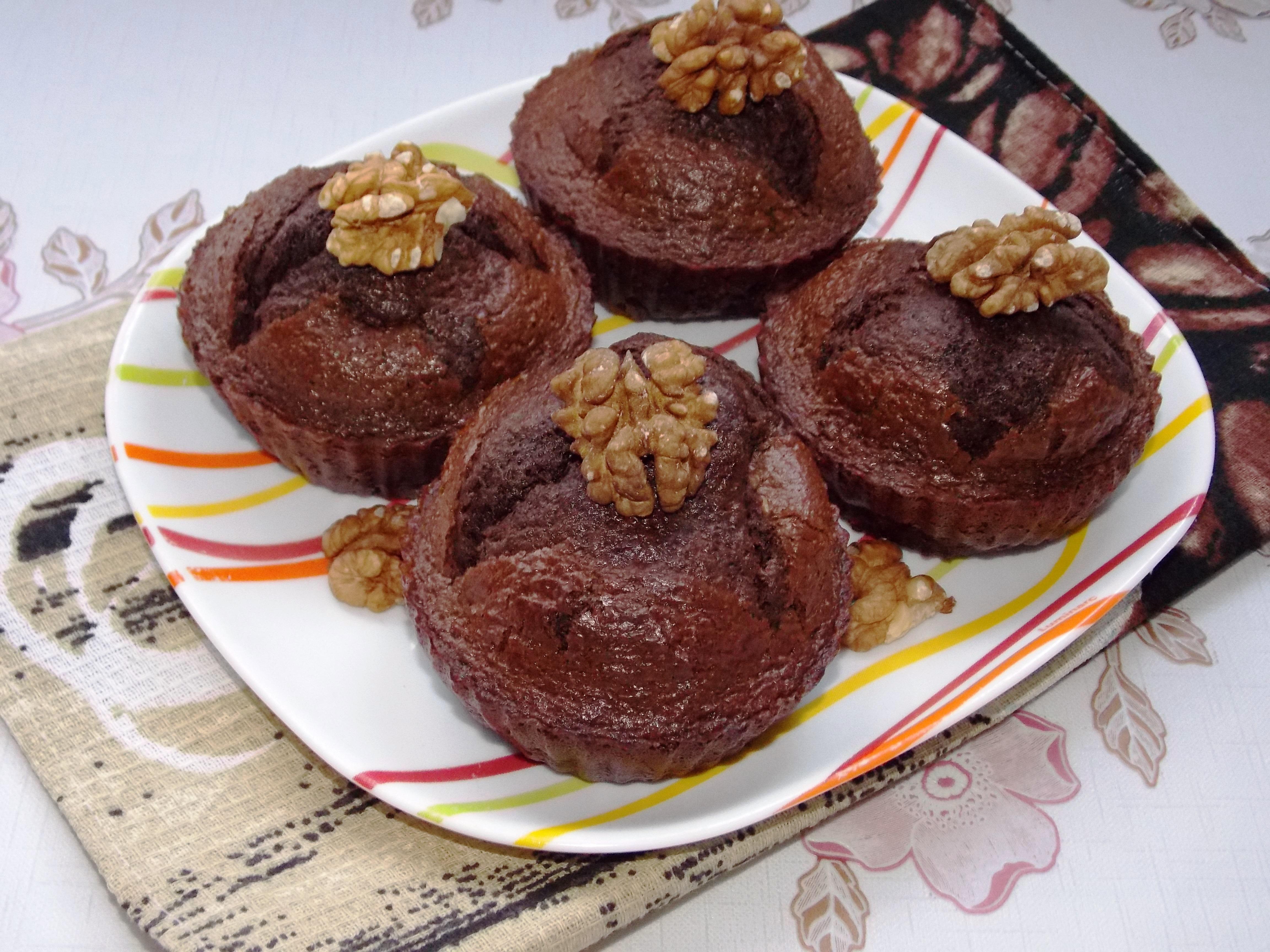 кексы с шоколадом рецепт с фото
