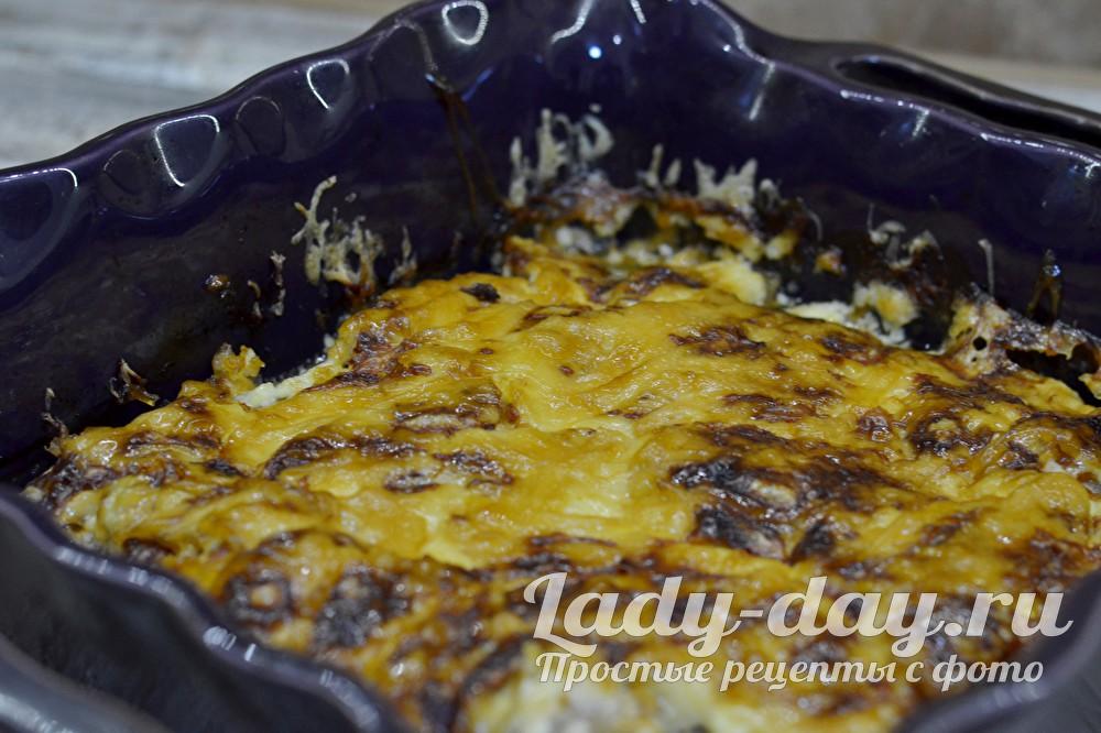 мясо в духовке с сыром