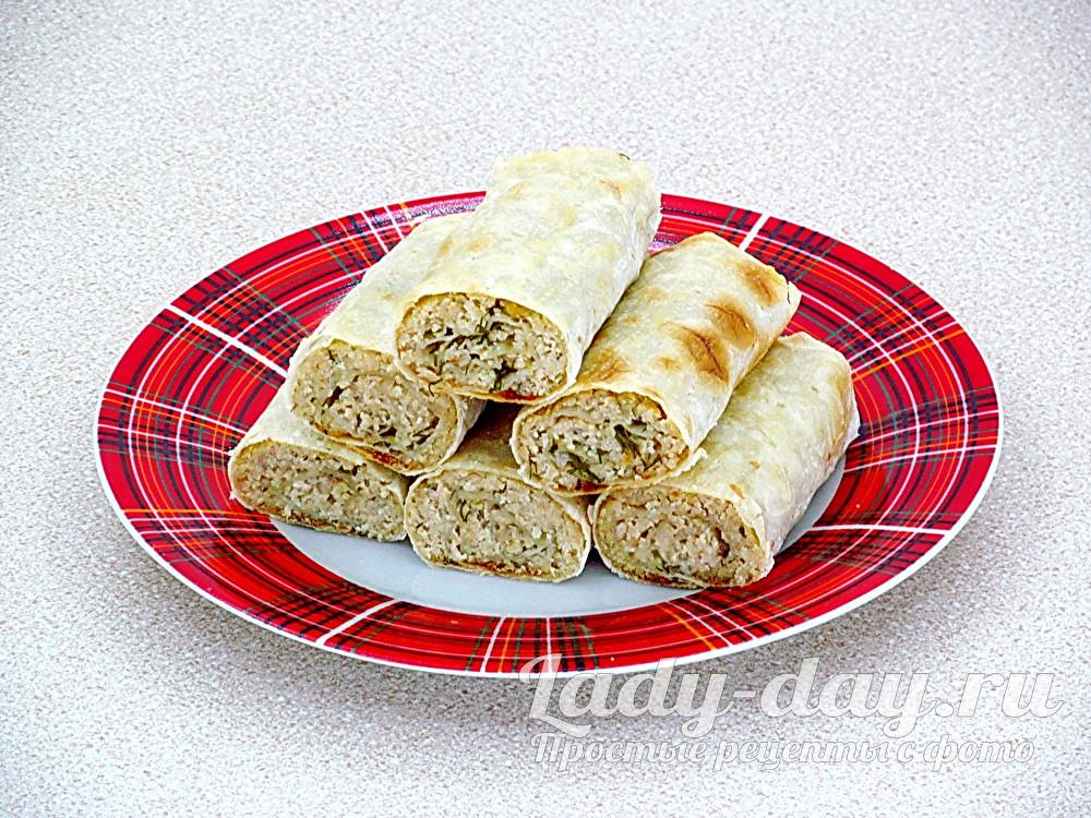 Лаваш с мясом запеченный в духовке