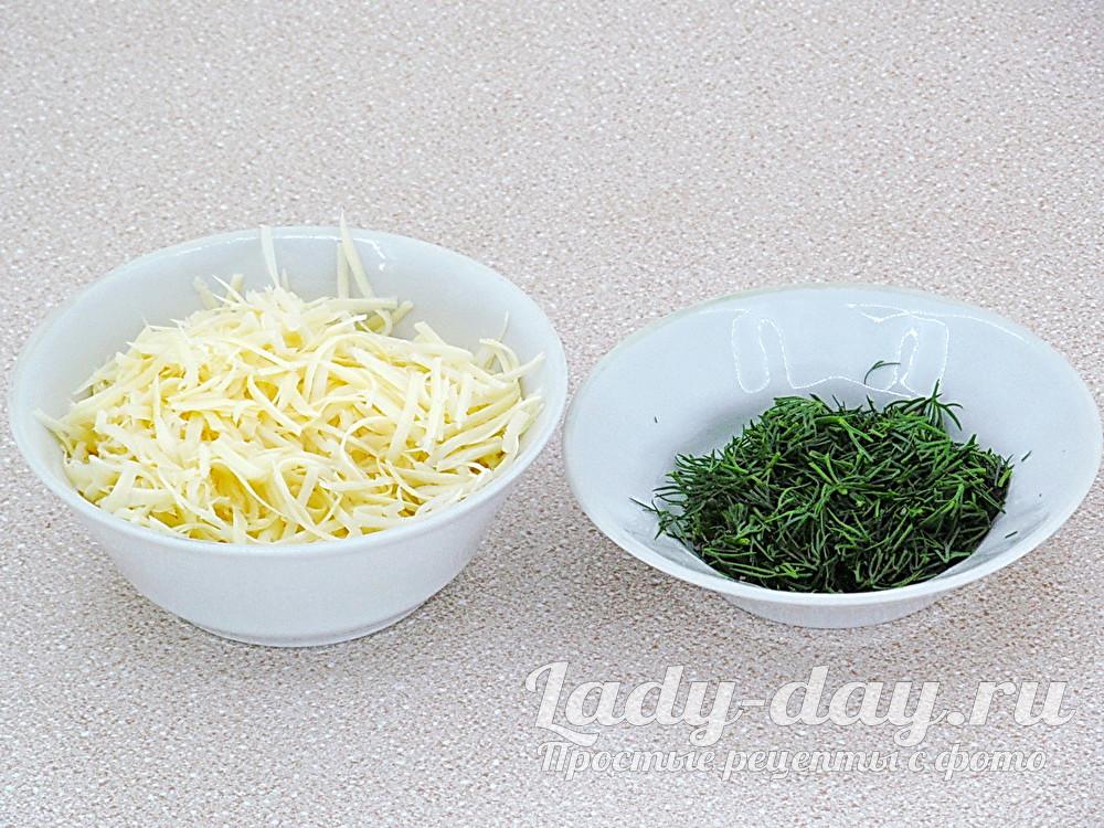 сыр и укроп
