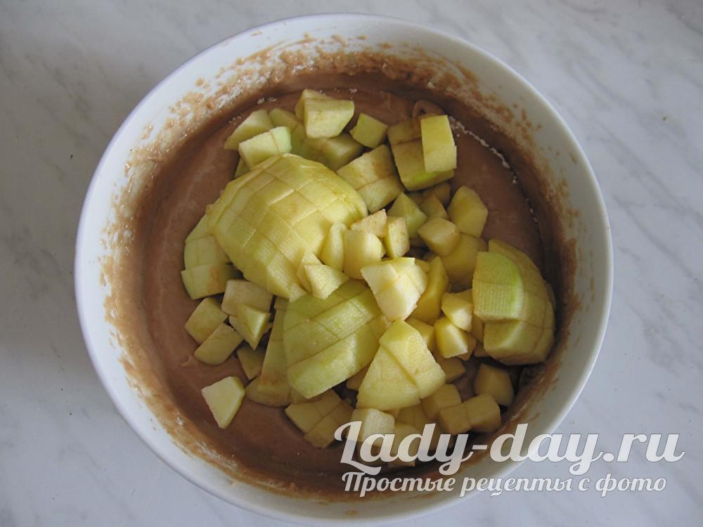 тесто с яблоками