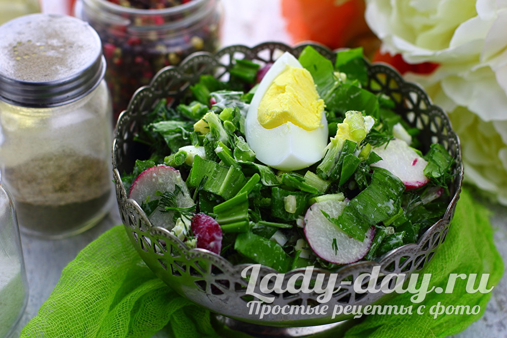 салат из черемши фото