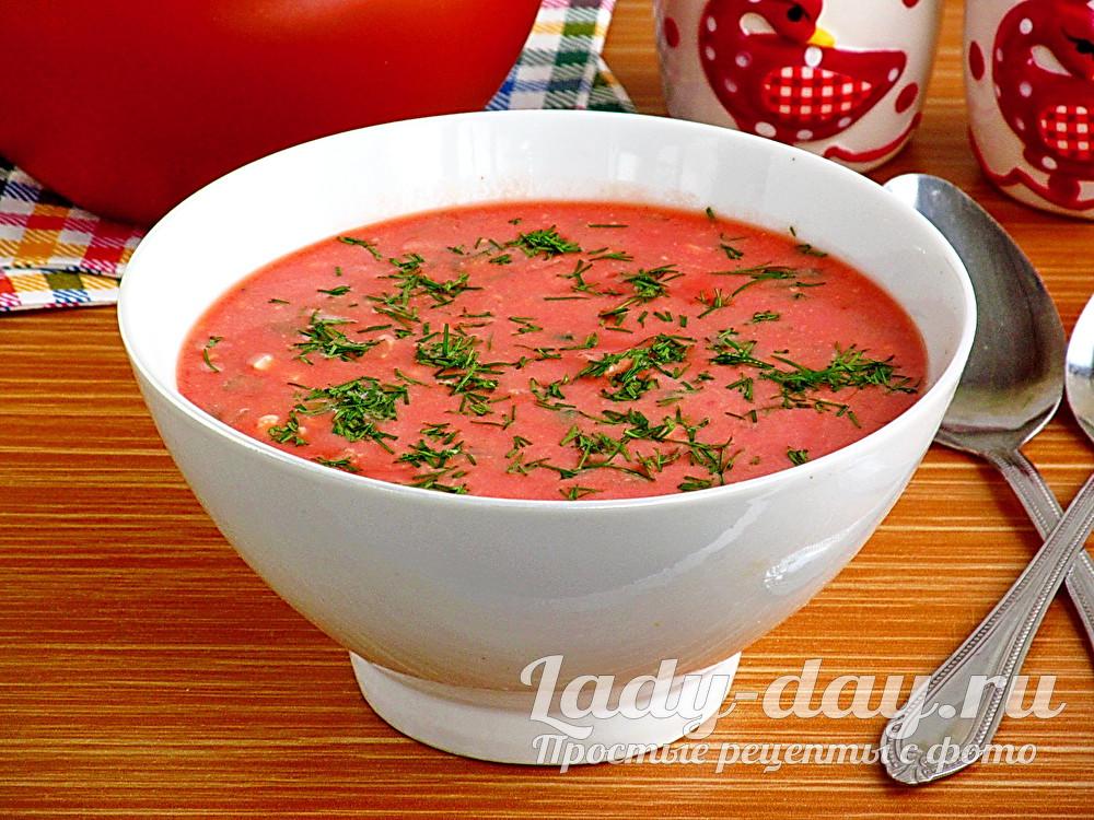 Окрошка на томатном соке фото