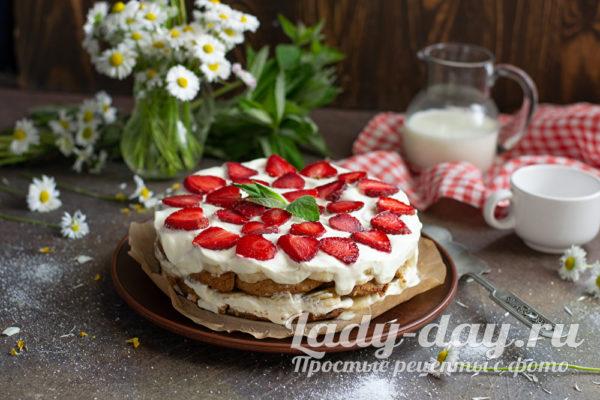 сладкий торт без выпечки