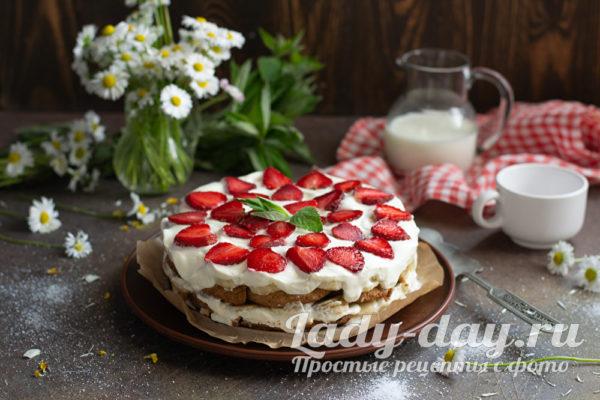сладкий торт из печенья