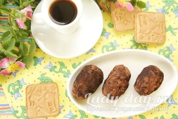 пирожное из печенья и масла