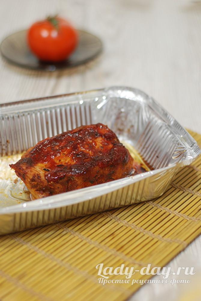 свинина запеченная с аджикой в духовке