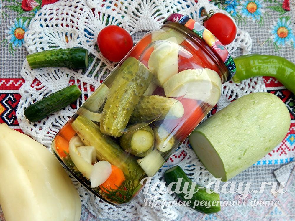 Овощное ассорти на зиму - рецепт с фото пальчики оближешь