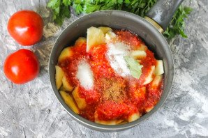 Соус из помидоров с яблоками - фото шаг 4