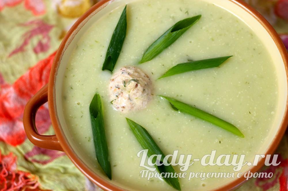 Суп-пюре из кабачков: рецепт приготовления с фото пошагово