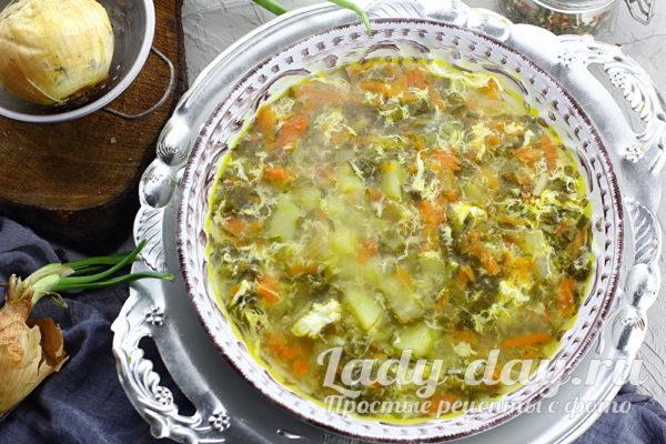 суп со щавелем и яйцом рецепт с фото пошагово