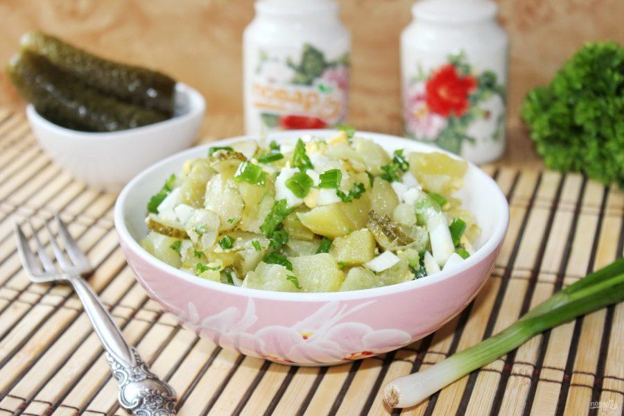 Картофельный салат с зеленым луком
