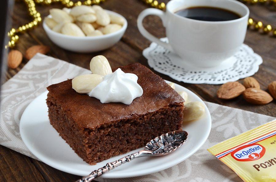 Шоколадно-миндальные пирожные