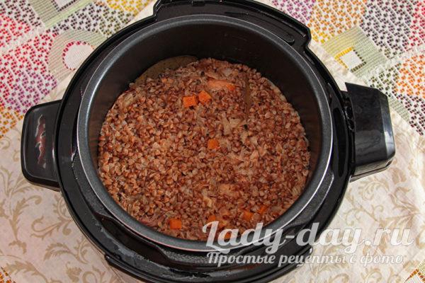 гречка с тушенкой в мультиварке рецепт