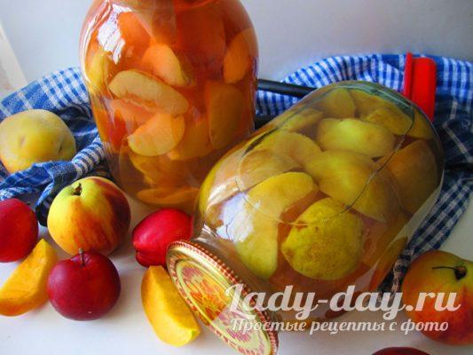 компот из персиков и слив