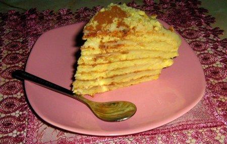 Торт на сковородке