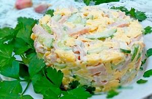 Простые рецепты легких салатов
