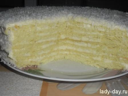 Торт рафаэлло рецепт с фото