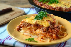 Пирог из спагетти под сыром - фото шаг 9