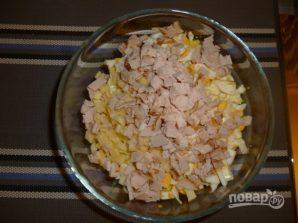 Простой салат с ветчиной - фото шаг 3