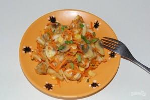 Салат из шампиньонов маринованных - фото шаг 4
