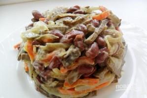 Салат с фасолью и печенью - фото шаг 4