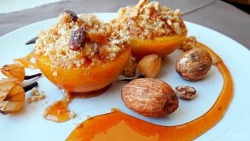 Вкусный десерт из персиков - фото шаг 5