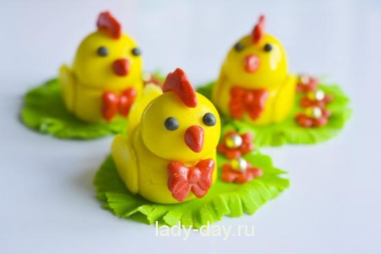 цыплята из мастики фото