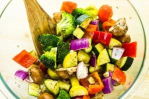 Овощи с грибами в духовке - фото шаг 2