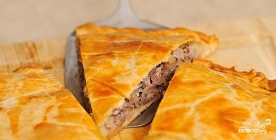 Слоеный пирог с мясом и картошкой - фото шаг 10