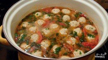 Суп с фрикадельками на курином бульоне - фото шаг 9